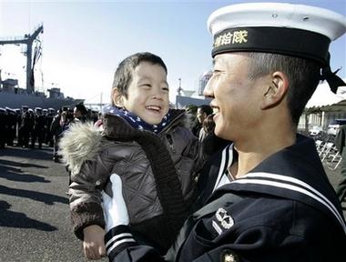 Японские моряки возвращаются домой после шести лет в Индийском океане