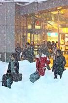 Сильный снегопад ожидается в приморских и других районах Японии