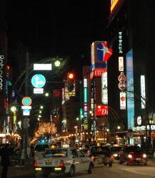 Колоритный район ночных клубов в Саппоро Сусукино