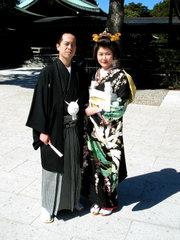 Традиционные японские свадьбы в Мэйдзи-дзингу