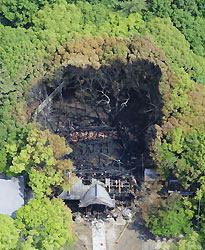 Японский храм, считающийся важным культурным достоянием, погиб в огне