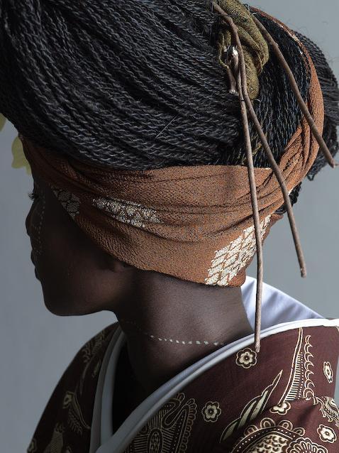 Красивая смесь культур: африканское кимоно