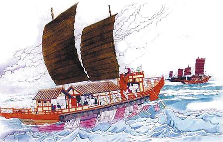 Японская миссия направляется в танский Китай