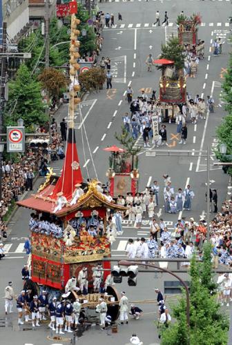 Фестиваль Гион (Gion) в Киото. 17.07.2009.