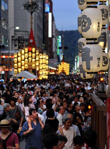 Фестиваль Гион (Gion) в Киото. 16.07.2009.