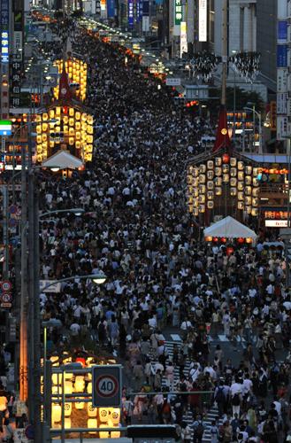 Фестиваль Гион (Gion) в Киото. 14.07.2009.