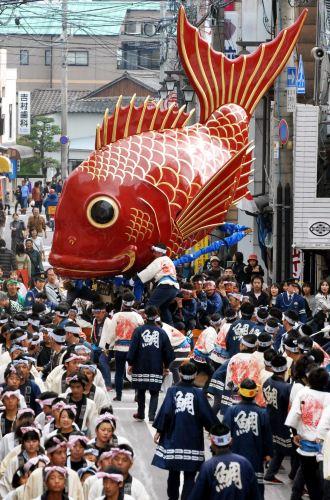 Фестиваль Карацу Кунти (Karatsu Kunchi) в Карацу, префектура Сага. 3.11.2007.