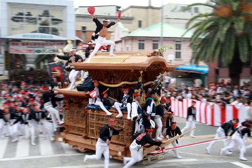 Фестиваль Дандзири (Danjiri) в Кисиваде (Kishiwada), префектура Осака. 19.09.2009.