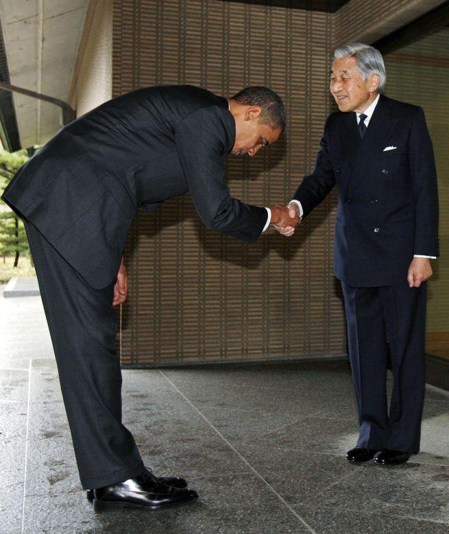 Встреча президента США Барака Обамы и императора Японии Акихито. Токио, 14-е ноября 2009 г.