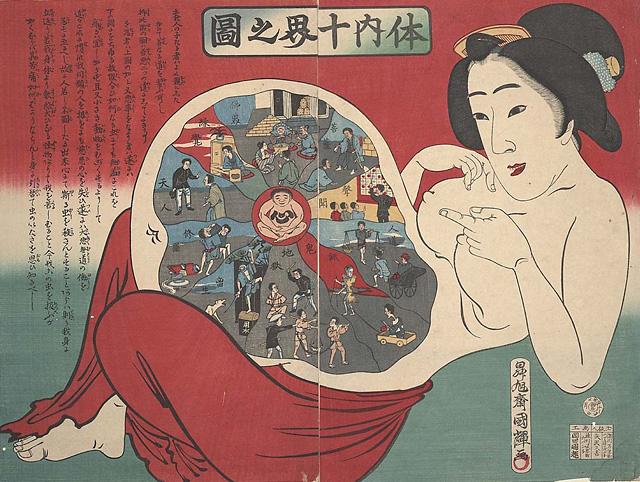 Японские гравюры XIX века на медицинскую тематику