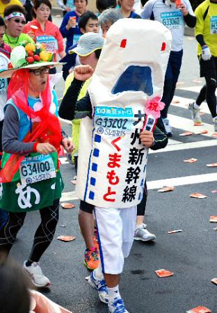 Фотографии участников Токийского марафона – 2011 [Автор фото: Asahi]