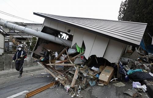 Разрушительное землетрясение в Японии