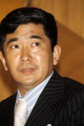Синтаро Исихара после проигрыша на выборах на пост губернатора Токио в 1975 г.