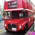 Лондонский автобус на улицах Сибуи