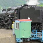 C61-20 движется назад к поворотному кругу. Станция JR Минаками, 5-е июня 2011 г.