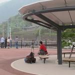 Рядом с поворотным кругом станции JR Минаками (префектура Гумма) сделали подобие небольшого парка