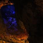 Сток для воды из штолен. Подсветили синеньким, чтоб лучше видно было. Ручеек там такой ощутимый