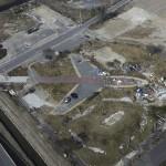 Последствия цунами. Неподалёку от аэропорта г. Сэндай, 18-е ноября 2011 г.