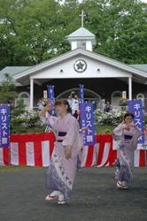 """Ежегодный июньский фестиваль рядом с """"могилой"""" Христа в Синго, префектура Аомори"""