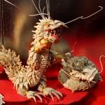 Декоративный дракон поближе. Сделан из чешуек, вырезанных из панциря дорогого вида черепах