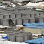Цистерны с водой неподалёку от АЭС «Фукусима-1», 26-е февраля 2012 г.