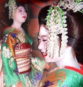Набеленные красавицы Киото