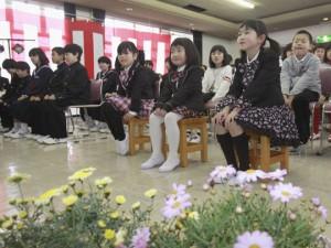 Церемония в честь начала нового учебного года в деревне Каваути, префектура Фукусима. 6-е апреля 2012 г.