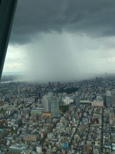 Ливень-партизан: вид с Токийского небесного древа