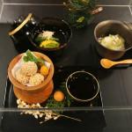 Классический набор из супа и овощных прикусок