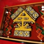 Суси в виде свежевыбранного символа уходящего года, иероглифа 金 (золото)
