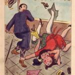 "Карикатура 20-х годов ""Кошачья драка"". Видимо, две мога не поделили мобо"