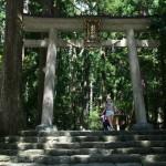 Это ворота-тории. Типа вход в Нати-дзиндзя - храм водопада. Водопад, да еще один из крупнейших в Японии, - обиталище древнего бога. Утверждают, что древние японцы поклонялись богу водопада Нати еще до того, как синтоизм сформировался как законченная религия. А уже потом бога водопада присвоил себе синтоизм. Так что можно считать, этот бог - один из первых, поселившихся в Японии