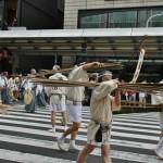 Бамбуковые рейки для поворота тележки-хоко