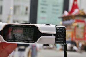 Опять документальный кадр. Дата, время и температура окружающей среды. МЯО повезло: день был относительно прохладный. По местным меркам, понятно