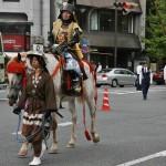 Еще один из соратников Нобунаги, Нива Нагахидэ. Шлем у него в форме корейской шляпки придворного