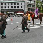 Благородный господин (на коне) с сопровождением