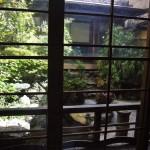 Комнатка выходит в маленький внутренний садик, очень симпатичный