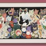 """Автор - Кобэни 小紅. Название - """"Коты цветов четырех сезонов"""". По идее, здесь 12 месяцев в виде манэки-нэко в соответствующий цветочек. Но я как-то затруднилась их всех пересчитать"""