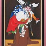 """Автор - Миюки みゆき. Название - """"Подожди немного"""". Сцена из известной пьесы кабуки, представленная котиком"""