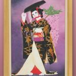 """Автор - Юмико ゆみこ. Название - """"Фудзи-мусумэ"""". Еще одна героиня кабуки с известным танцем. В виде котика она приманивает любовь"""