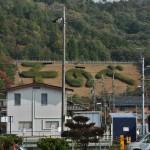 """Вид на склон горы от станции. Станция называется так же, как тут написано: """"Сонобэ"""""""