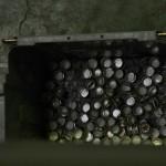 Отбросы крышечек на переработку