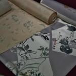 Ткани для кимоно с набивным рисунком