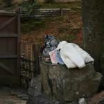 Дзидзо-сан рядом с этим храмом. Одежда настоящая, детская