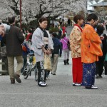 Мне сейчас интересно рассматривать других дам, одетых в кимоно. Изучаю возможные цветовые сочетания