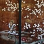 Фрагмент росписи на раздвижных дверях. Тоже сакура