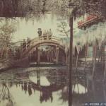 Примерно то же самое место, но сто лет назад: глицинии уже были здесь, но мосты были деревянными