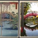 Работа Хиросигэ и современный снимок