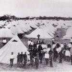 Нашла фото в интернете. Так выглядел лагерь российских военнопленных в Хамадэре