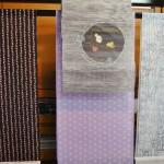 Ткани для кимоно и оби, летние. Слева - те же котики, что и на фото 21-22, только розовые